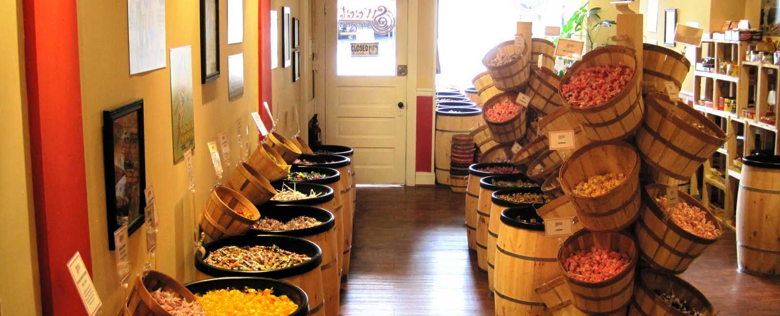 Wooden Barrel Displays 1